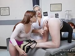 Anal gaping and fisting nance threesome