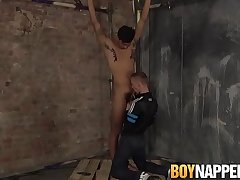 Nipple distressing youngster gets a messy jerk off from maledom