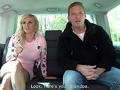 Busty Slut Jarushka Ross Performs on a Big Cock in Public