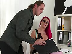Titty Fuck Paige Delight'_s Gigantic Tits while that babe sucks your Cock