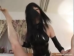 Transparent japanese mistress pegging