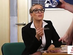 Spex office Mummy humiliating naked client