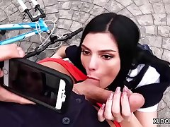 Bike accident loopings into cock sucking - Elena Gilbert