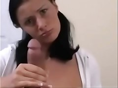 Slovakian hyperMILF Karma Rosenberg gives the teasingest strip, handjob &amp_ blow