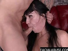 Nasty brunette slut takes a destructive throat be captivated by