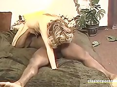 Hot Classic Chick Takes Broad in the beam Black Cock