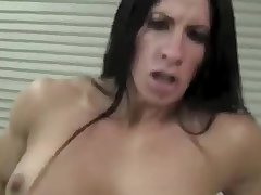 Female Bodybuilder Fun With Dildo from vpwipes.com