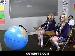 Cute High Instructor Mould Friends Sex Ed Class Orgy