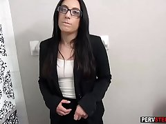 MILF stepmom played with a mature wet bawdy cleft for a camera