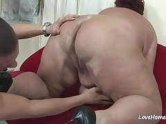 Horny big woman seduced her man and fucked