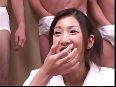 Cum With an increment of Sushi for 18 year old Japanese Teen - Japanese Bukkake Fuckfest