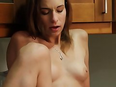 Couple of hot  lickalotopi Amber Rayne, Dani Daniels enjoy muff-diving on the kitchen