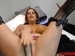 Hardcore busty mommy Stab prefers DP with huge fake penises at ALIVEGIRL