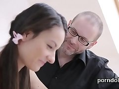 Innocent schoolgirl gets seduced and pounded by their way elderly schoolteacher