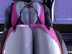 Fat ass Widowmaker rides Sombras futa flannel