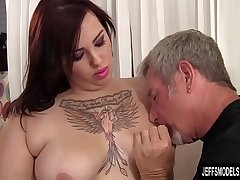 Chubby Phoenixxx BBW Sucks a Thick Prick Before Filling It in Her Fleshy Twat